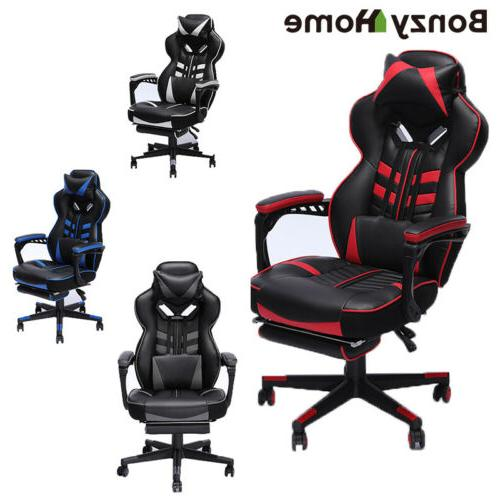 upgraded version racing gaming chair overstuffed padded