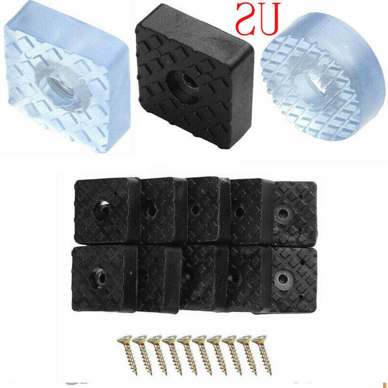 10 Rubber Non Slip Furniture Feet Pads w/Screw Table Chair S