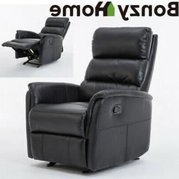 Leather Glider Recliner Chair Rocker Sofa Home Theater Seat