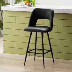 Leather Metal Industrial Bar Stools Counter Height with low