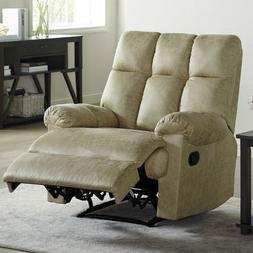 Leather Recliner Chair Padded Comfortable Soft Overstuffed S