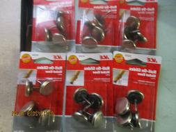 """LOT OF 24 ACE 7/8"""" METAL NAIL-ON GLIDES 51214 6 PACKS NICKEL"""