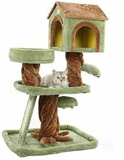 🥇MultiLevel Cat Tree House Condo Furniture Stand with Scr