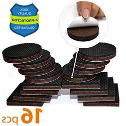"PREMIUM NON SLIP Furniture Pads 16 piece 2"". Best SelfAdhe"