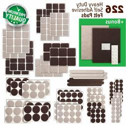Premium 226 pcs Felt Pads Large Pack Best Felt Furniture Pad
