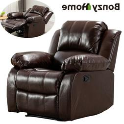 Overstuffed Recliner Chair Heavy Duty Frame Padded Sofa Wide