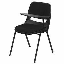 Flash Furniture Black Padded Ergonomic Shell Chair with Righ