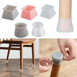 Silicone 4PCS Chair Leg Caps Feet Cover Pads Furniture Table