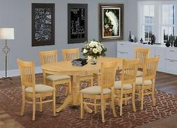 East West Furniture VANC9-OAK-C 9-Piece Dining Table Set