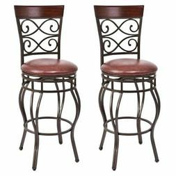 Vintage Bar Stools Swivel Padded Seat Bistro Dining Kitchen